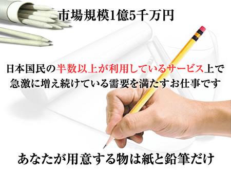 紙と鉛筆を使ったお仕事