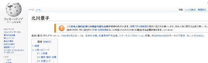 北川景子 wiki